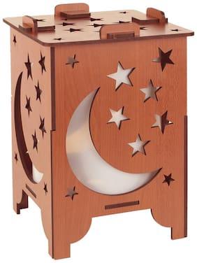 Sehaz Artworks Mdf with melamine Modern Brown Table lamp ( Set of 6 )