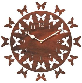 Sehaz Artworks Brown Wall Clock