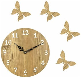 Sehaz Artworks Beige Wall clock