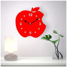 Sehaz Artworks Red Wall clock