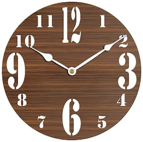 Sehaz Artworks BigSmallNum Wood Wall Clock