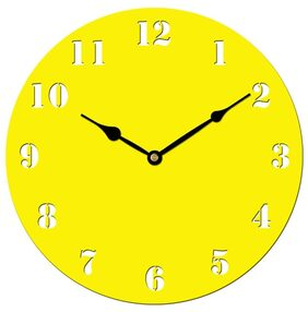 Sehaz Artworks Yellow Wall Clock