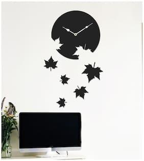 Sehaz Artworks Black Wall clock