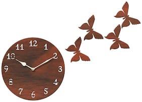 Sehaz Artworks Brown Wall clock