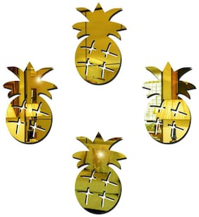 Sehaz Artworks Pineapple-Gold Wall Decals