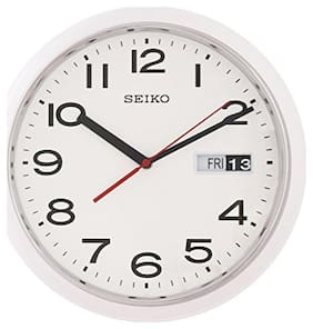 Seiko Plastic & Wood Analog-digital Wall clock ( Set of 1 )