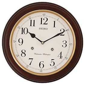 Seiko Musical Wooden Wall Clock With Dual Musical Melody Brown (31 X 31 Cm)