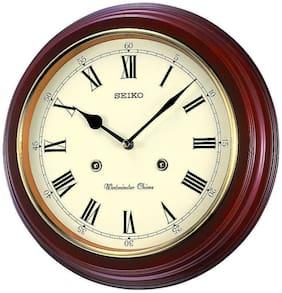 Seiko Wood Analog Wall clock ( Set of 1 )