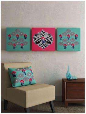SEJ Floral Pink (Set of 3) Framed Wall Art