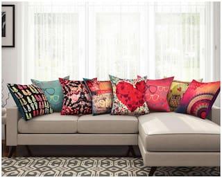 SEJ Silk Abstract HD Digital Premium cushion covers (Set of 8)
