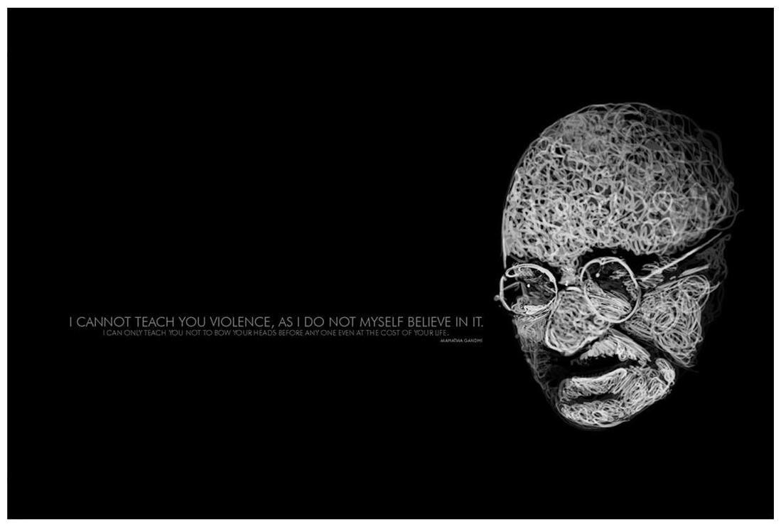 Self believe mahatma gandhi unframed premium paper poster wall artwork digital print
