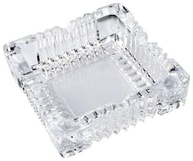 Sellers Union Natural Clear Square Glass Ash Tray