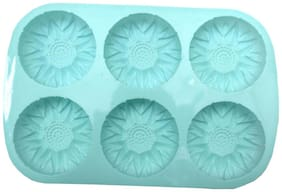 Sellers Union Silicon Round 6 cavity Baking Muffin Mould/Cupcake