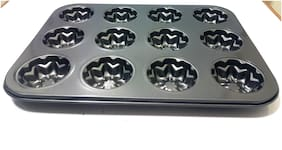 Sellers Union Muffin Pan 12 Cup Nonstick Carbon Stainless Steel Cupcake Pan Pumpkin Shape