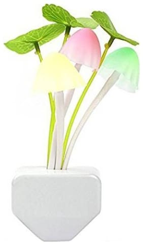 SENSOR MUSHROOM LED LIGHT Night Lamp  (6 cm, White) Pack of 1