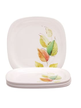 Servewell Bay Leaves Square Round 6 Pieces Dinner/ Full Plates