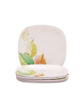 Servewell Bay Leaves Square Round 6 Pieces Side/ Quarter Plates