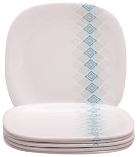 Servewell Firozi Square Round 6 Pieces Dinner/ Full Plates