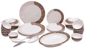 Servewell Melamine Dinner Sets - Set of 29 , White