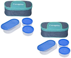 Carrolite 6 Containers Plastic Lunch Box - Assorted