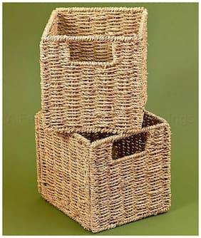 Set Of 2 Storage Baskets Bedroom Bathroom Living Room Kitchen Home Decor