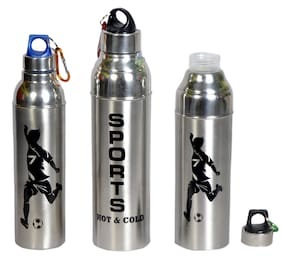 Dynamic Store 2100 ml Stainless steel Assorted Water bottles - Set of 3