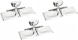 Set of 3 pieces Stainless steel Double Soap Dish - Briza Series