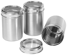 Set of 3 See through canister capacity 500 ml each