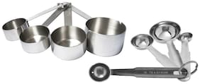 Set Of 4 Heavy Measuring Cup And 4 Measuring Spoon