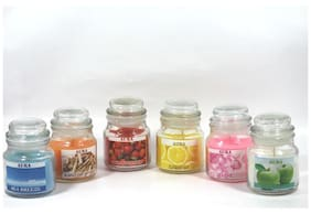AuraDecor Glass Multi Candle