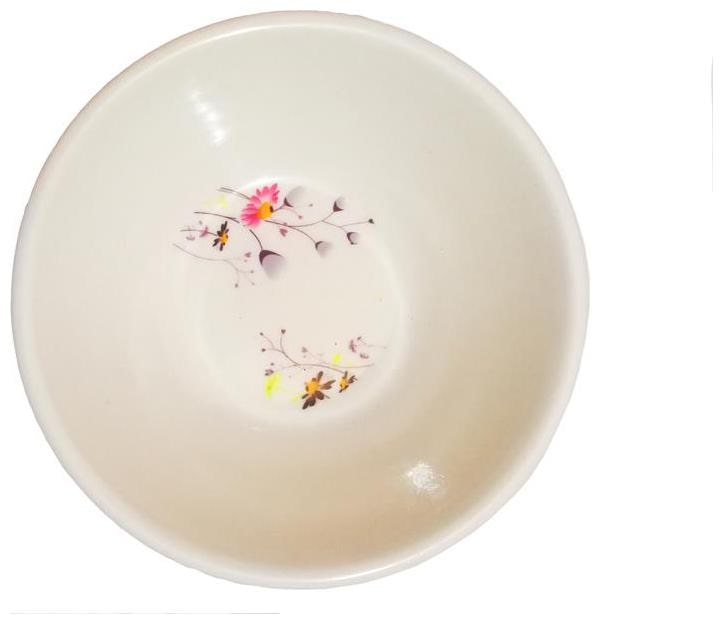 Set of 6 Printed Melamine Veg Bowl Set, 10cm, White  Any Design