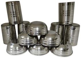 Set of 6 round amrapali glass and 6 bowls