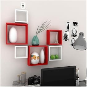 Set of 6 Square Wall Shelves
