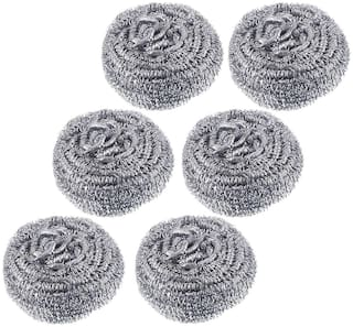 SET OF 6 Steel Scrubber for all types of Cleaning Purposes