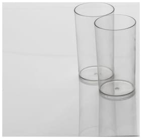 Set of Two Unbreakable Stylish Transparent Glass Set 300 Ml  ABS Poly Carbonate Plastic 300 ml Magic Glasses