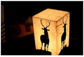 Shady Ideas Royal Stag LED Table Lamp - Brown - 5x5x8 inches