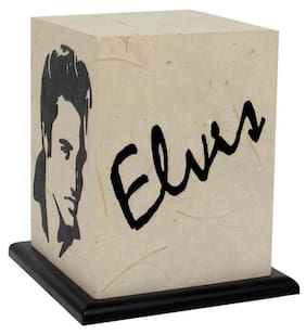 Shady Ideas Elvis LED Table Lamp - Off White - 5.5x5.5x7 inches