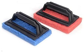 Shagun S-23 Tile Cleaning Multipurpose Scrubber Brush With Handle (02 pc.)