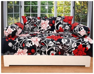 SHAKRIN Poly cotton Floral Single Size Diwan Sets - Pack of 8