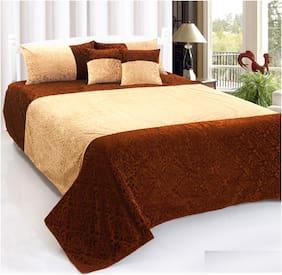 SHAKRIN Velvet Abstract King Size Bedding Set