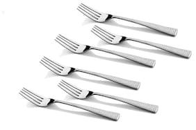 Shapes Hammer Stainless Steel Tea Fork 6 Pcs