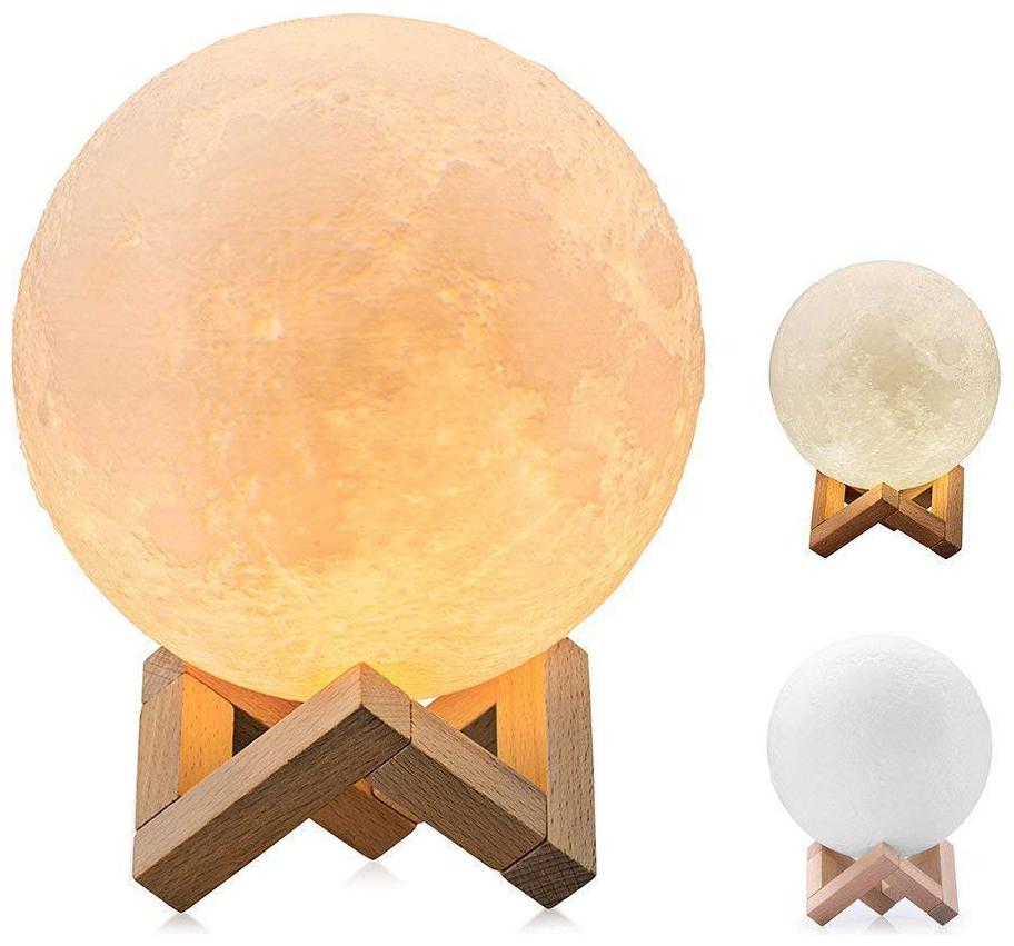 Sheling 7 Color Moon Night Lamp with Stand for Bedroom Lights Book...