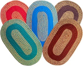 SHF Door Mats for Home Set of 5 Piece 33x53 cm