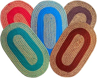 SHF Door Mats for Entrance Welcome, Bathroom Mats for Home and Office, Set of 5 Piece 33x53 cm