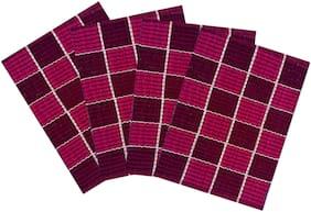 SHF Door Mats 100% Cotton for Home Set of 4 Piece 40x60 cm