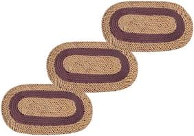 SHF Door Mats for Entrance Welcome, Bathroom Mats for Home and Office, Set of 3 Piece 33x53 cm brown Color