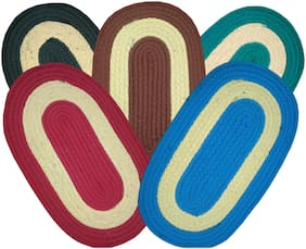SHF Door Mats for Home and office Set of 5 piece multicolor