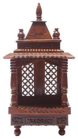 Shilpi Handicrafts Sheehsam Wood Hand Made Pooja Mandir