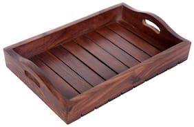 Shilpi  Shoppee Wood Tray, Brown