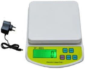 Shines Digital Kitchen weight machine Multi-Purpose 10 kg Weighing Scale (With Adopter)